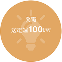 発電 送電端100kW